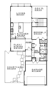 Contemporary Style House Plan 4 Beds 3 00 Baths 2400 Sq Ft Plan