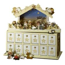 lakeland bethlehem nativity themed advent calendar stable with 24