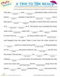 fill in the blanks story camping mad libs worksheets and camping