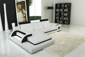 transitional style white leather sofa living room lazar industries