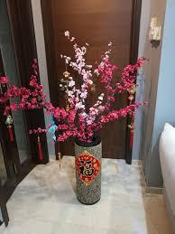 Cny Home Decor Cny Cherry Blossom Flower Vase Wood New Year Decor Home