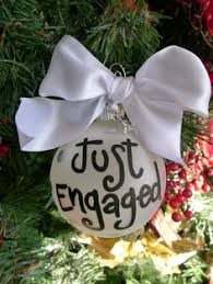 just engaged ornament our ornament