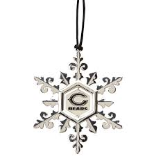 chicago bears pewter snowflake ornament nflshop