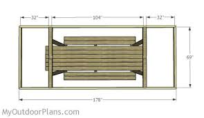 building a picnic table roof myoutdoorplans free woodworking