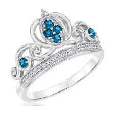 cinderella engagement ring enchanted disney diamond and london blue topaz cinderella princess