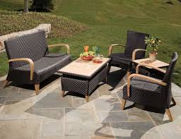Patio Flooring Options Flooring Ideas Stone Tile Patio Flooring Under Black Rattan