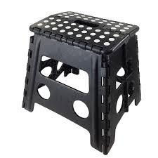 folding stool step chair climb closet high stand black cabinet