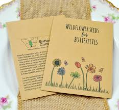 wildflower seed packets butterfly conservation charity wedding favour charitable seed