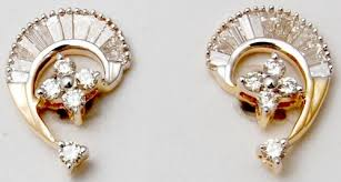 diamond earrings india yellow gold diamond ear jewelry for women designer damond
