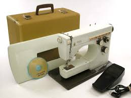 vintage husqvarna viking 6430 sewing machine w case u0026 manual u2014needs