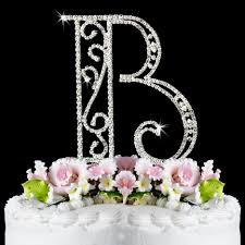 letter wedding cake toppers b wf monogram wedding cake toppers