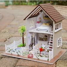 Mini House Kits Amazon Com Rylai Wooden Handmade Dollhouse Miniature Diy Kit