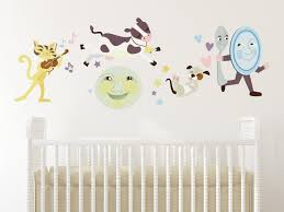 Baby Wall Decals For Nursery by Amazon Com Sunny Decals Nursery Rhyme Fabric Wall Decal Home
