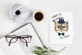 hipster watercolor cat print funny cat poster cat group