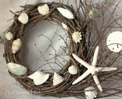 Christmas Wreaths Decorated With Seashells by Diy Grapevine Wreaths With Seashells Easy To Make Completely