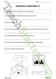 punctuation worksheet pack lower elementary teaching resource