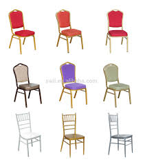 used cheap upholstered dining room chair metal frame banquet
