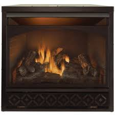 Vent Free Lp Gas Fireplace by Procom 35 In W 32 000 Btu Black Vent Free Dual Burner Gas
