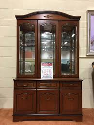 3 Door Display Cabinet Cherry Dining 3 Door Display Cabinet Manor Furniture Centre
