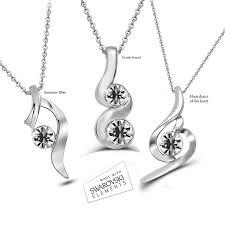 swarovski necklace set images Element mixed necklace set jpg
