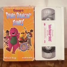 barney barney u0027s dino dancin u0027 tunes vhs tape kids movie bj baby bop