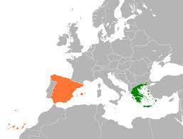 Greece On World Map Greece U2013spain Relations Wikipedia