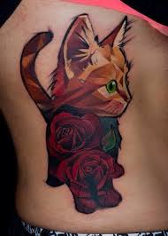 geometric tattoo best geometric tattoo cat tattoo