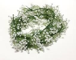 6 ft white baby u0027s breath flower garland gypsophila