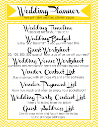printable wedding planning checklist for best arrangement