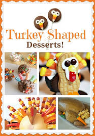 how to make turkey shaped desserts for thanksgiving