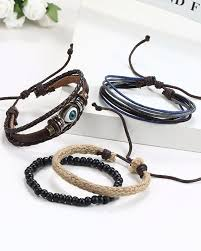 evil eye beaded bracelet images Streetsoul bead evil eye multilayer leather beads stack of 4 pcs jpg