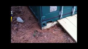 simple ways to keep your shipping container off the ground youtube