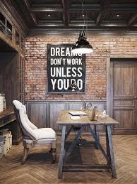 bureau loft industriel charmant decoration style atelier et un bureau style industriel