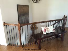 replacing wood balusters with wrought iron sort of diy dad