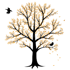 autumn tree and crows stock vector illustration of november