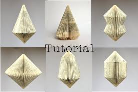 diy tutorial for folded book art patterns for 6 different book