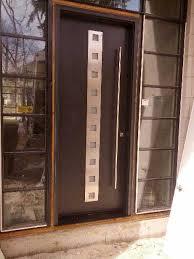 modern door modern contemporary fiberglass door with steel stripes and 2 side lites installed in toronto ontario by modern doors ca picturemed178 jpg