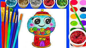 bubble gum coloring book gumball coloring page learn