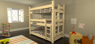 Cool Bunk Bed Plans Top Bunk Beds For Kids Plans Nice Design For - Triple bunk bed plans kids