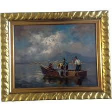 old master 19th century german oil painting on board signed by