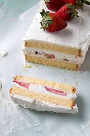 strawberries and cream ice cream cake recipe pound cake