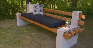 Raised Garden Bed With Bench Seating A Cheap U0026 Easy Way To Build A Outdoor Bench Using Cinder Blocks
