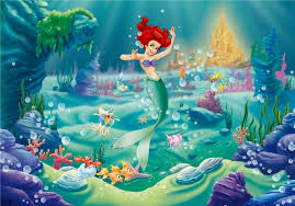 mermaid ariel disney cartoon wallpapers