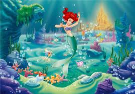 mermaid ariel disney cartoon wallpapers