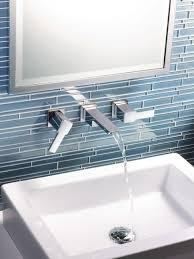 bathroom tile brown backsplash ceramic backsplash black