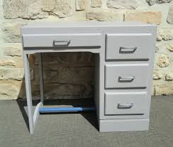 bureau en bois enfant ancien petit bureau enfant revisite gris et ardoise atelier