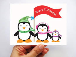6 penguin cards set of 6 adorable penguin