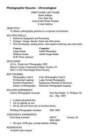 Sample Photography Resume by Example Of Reverse Assistant Resume Http Exampleresumecv Org
