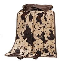 Faux Cowhide Chair Rustic Bedding Caldwell Cowhide Throw Black Forest Decor