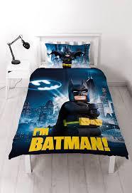 lego batman wall sticker 3d look boys girls bedroom wall art lego batman movie hero single duvet set with large print design